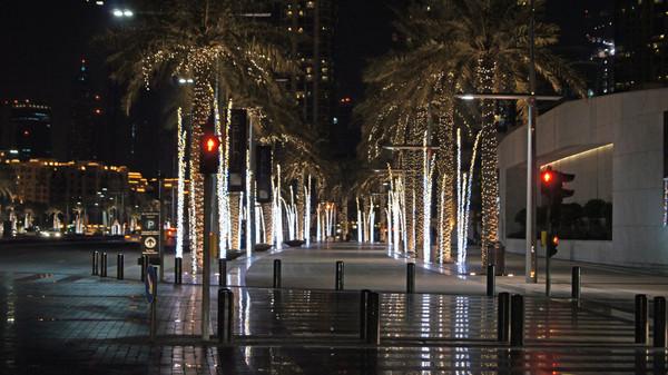 Отдых, ночью, Дубай, фото,